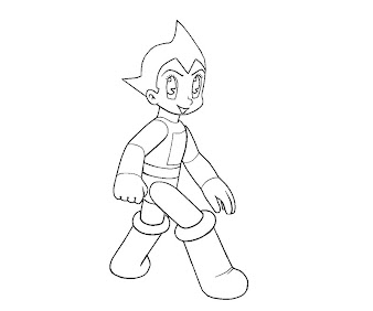 #9 Astro Boy Coloring Page