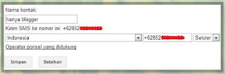 Sms gratis menggunakan Gmail