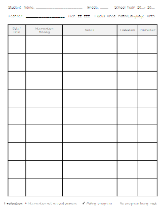On a side note, I use these sheets as well when I pull students for ...