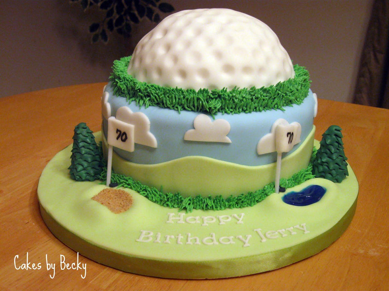 Cakes by Becky Golfers Birthday