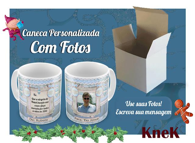 Canecas Personalizadas com fotos Natal 2015 KneK Curitiba