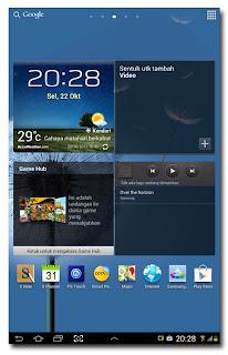 Samsung Galaxy Note 10.1 - Homescreen