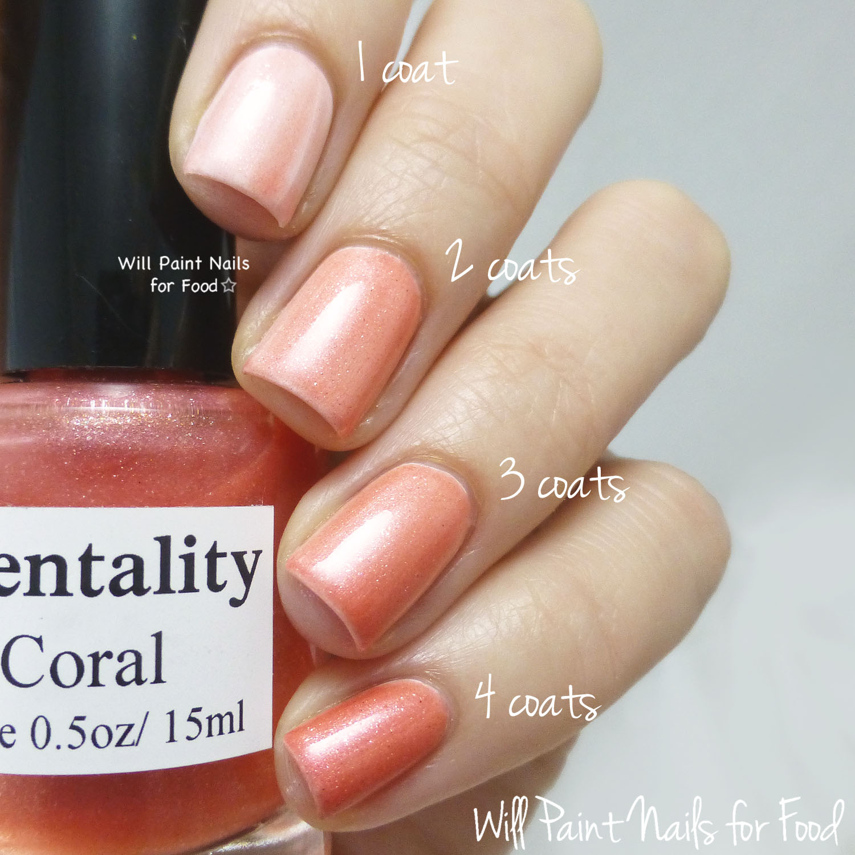 Mentality Nail Polish Glaze Coral swatch