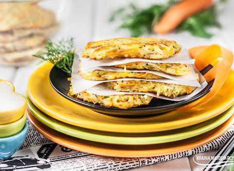 Placki ziemniaczane z marchewką i cukinią