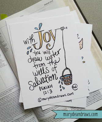 Marydean Draws Printable Joy Scripture Cards