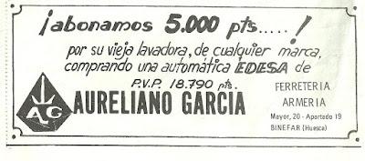 Publicidad Aureliano García Binefar