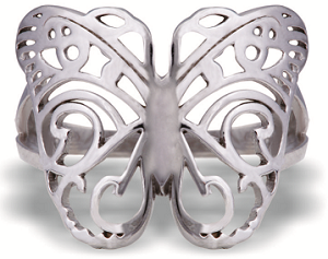 Tanya Rossi Silver Butterfly Ring TRR Rs 2000