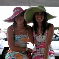 Monogrammed Wide Hot Pink Outline Derby Hat