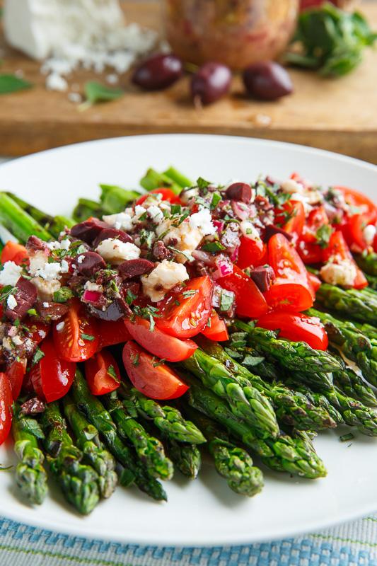 ... Asparagus and Tomatoes in a Kalamata Olive and Feta Vinaigrette
