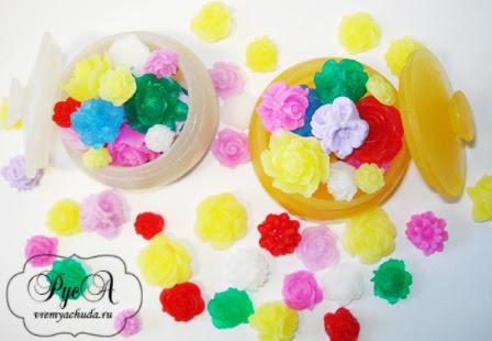 мыло шкатулка с цветами