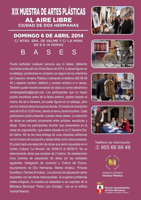 BASES XIX MUESTRA DE ARTES PLÁSTICAS AL AIRE LIBRE CIUDAD DE DOS HERMANAS. TFNO.: 955678195