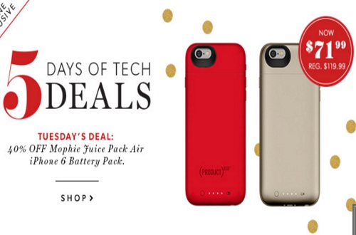 Chapters Indigo 40% Off Mophie Juice Pack Air iPhone 6 Battery Pack