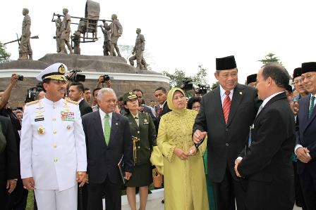 Presiden Resmikan Monumen Perjuangan Mempertahankan NKRI
