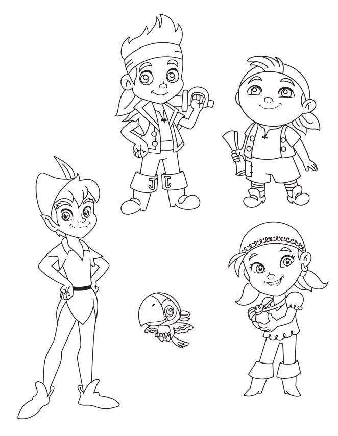 Jake y Los Piratas del Pais del nunca Jamas   Dibujos Para Colorear