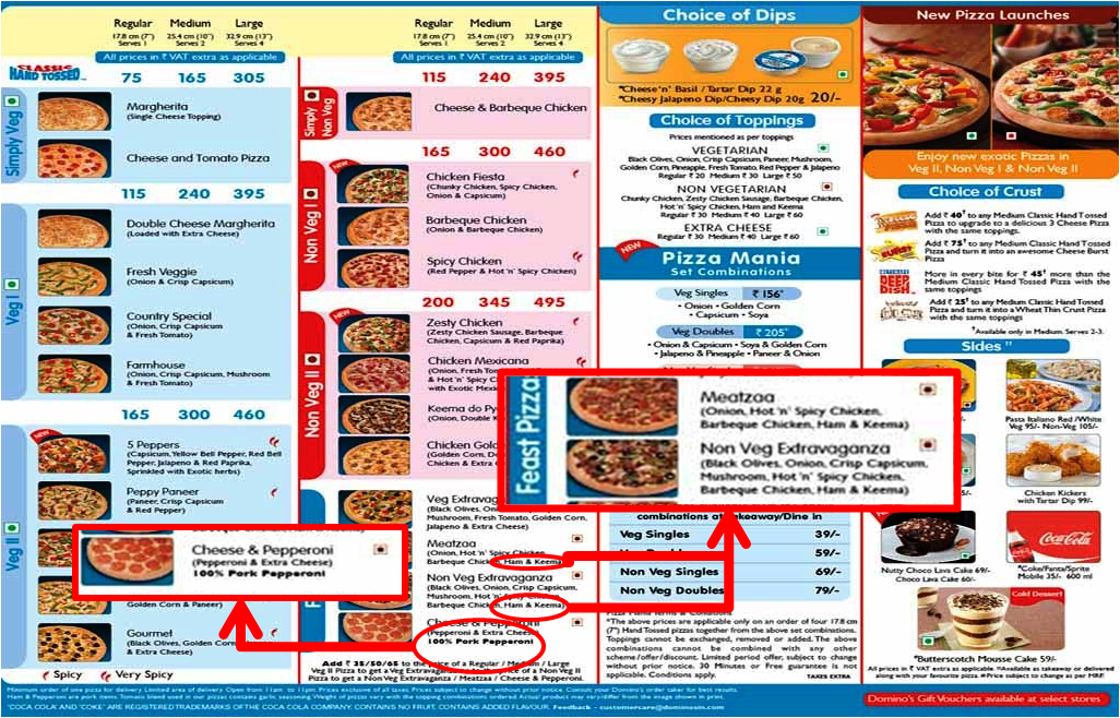 Non-Halal Food Guide: NOT HALAL : Dominos in India