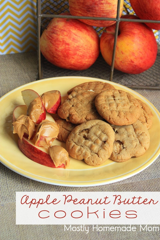 Apple Peanut Butter Cookies | Mostly Homemade Mom