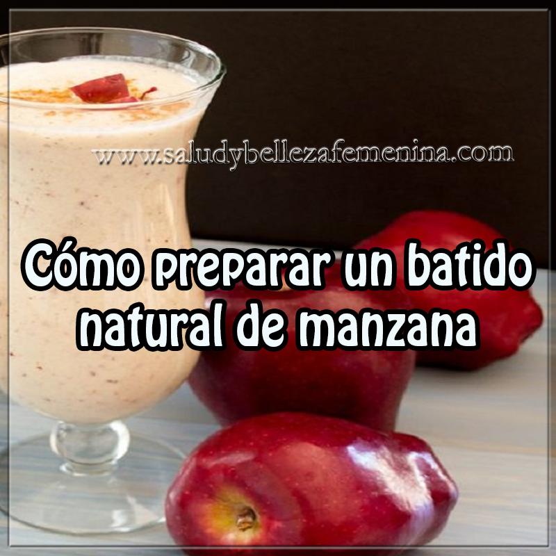 Bebidas saludables,  bebidas para adelgazar , receta de batido de manzana