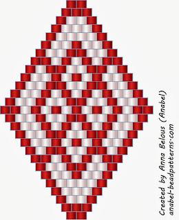 схемы сережек бисероплетение мозаика как плести
