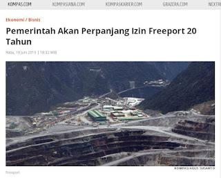 Erizeli Jely Bandaro : Freeport Papua Kontrak Karya ke Izin Usaha Penambangan (IUP)
