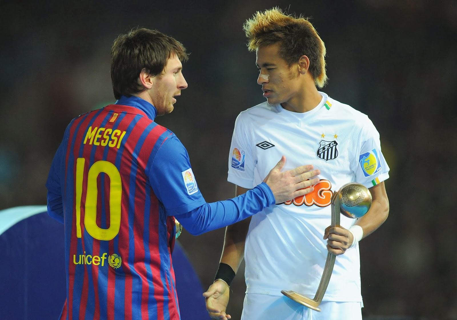 Neymar e Messi no Mundial