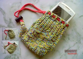 Knitting Produk, Kantong Ponsel, Poyeng Hobby, Sweet Mix Poyeng