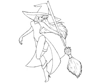 #14 Witch Coloring Page