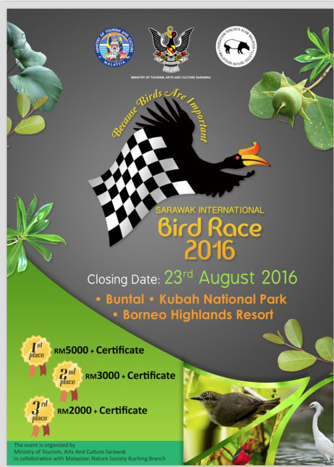 Flyer Sarawak International Bird Race 2016