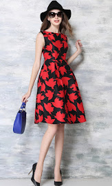 Sweet Lady Fashion Brand Flare Swing Dresses