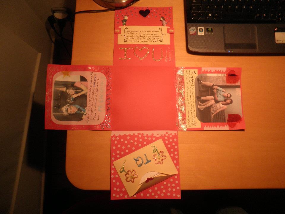 Regalos manuales de amor cajita scrapbook regalo de san - Ideas regalos manuales ...