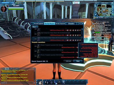 Star Trek Online - Crafting Requirements