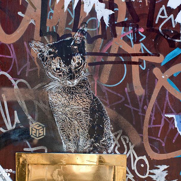 Gatos - Arte urbana - C215 nas ruas de Londres