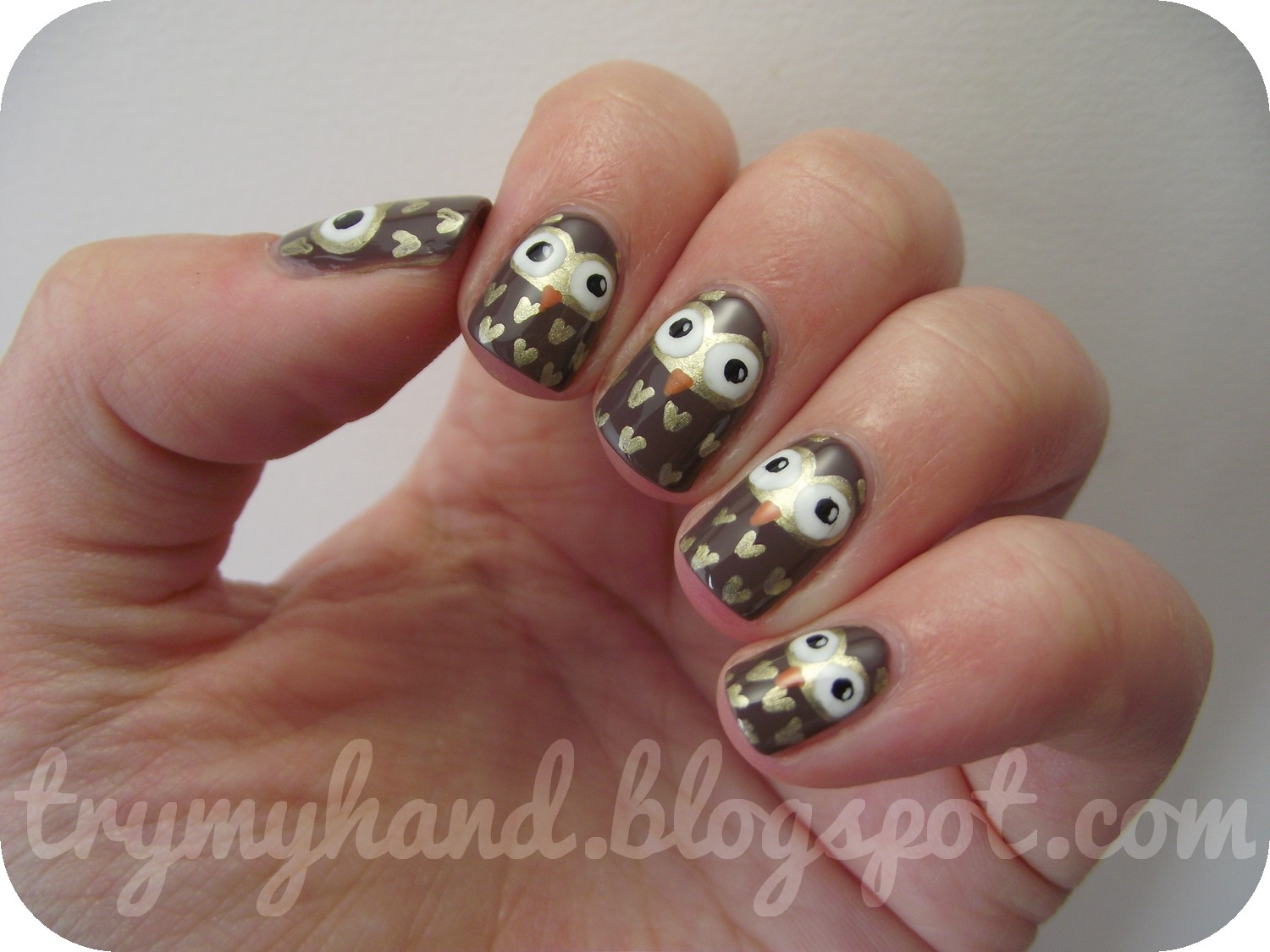Try My Hand: Alphabet Nail Art Challenge : O for Owls