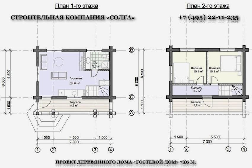 варианты планировки гостевого дома с баней из бревна