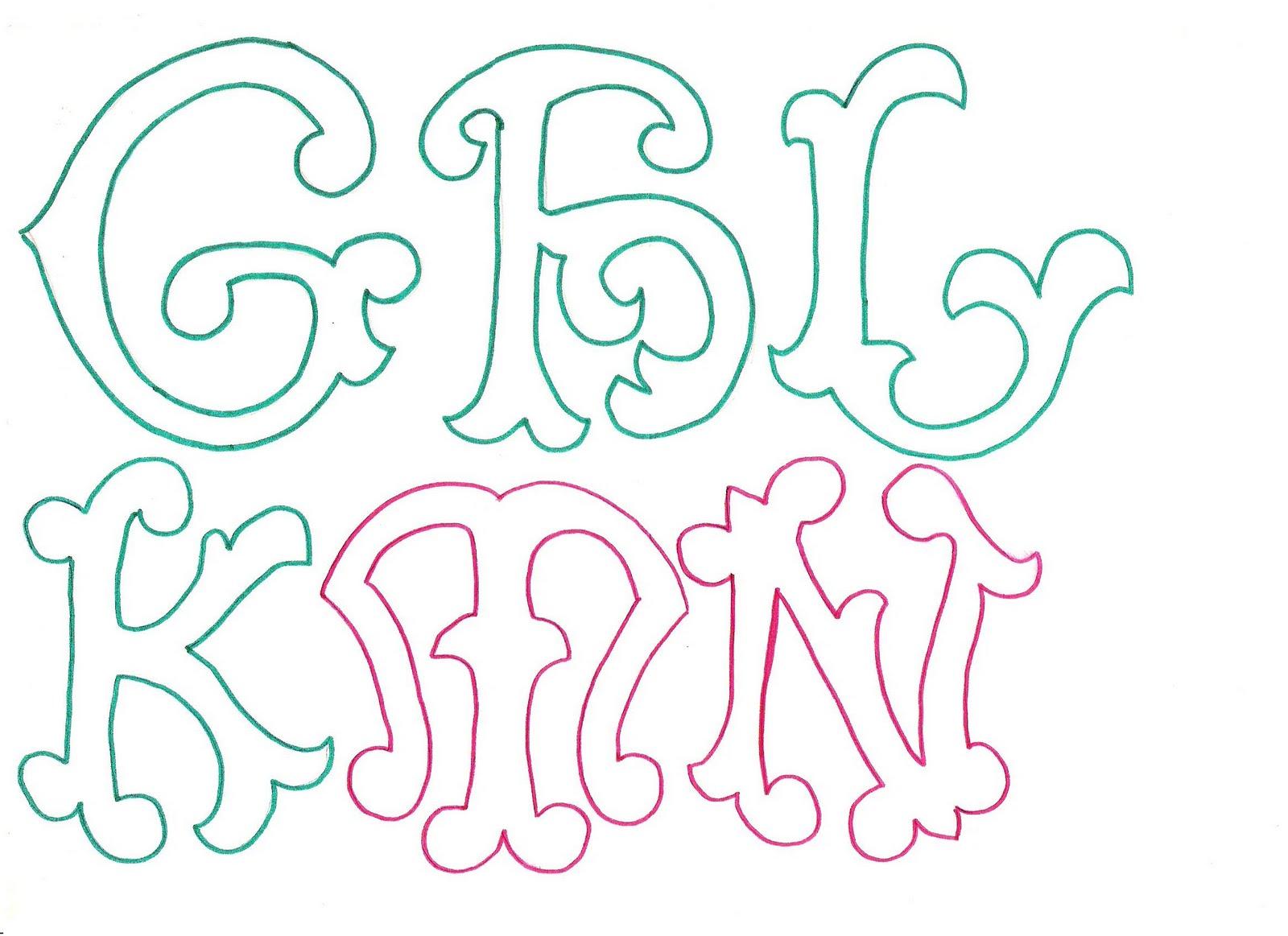 Maestroscomot letras curvas - Literas bonitas ...