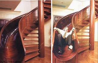 Escada em Caracol com Escorrega