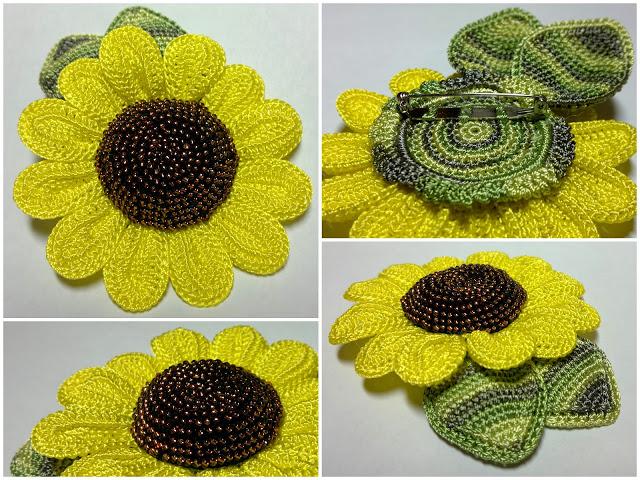 SOLO PUNTOS: Crochet girasol
