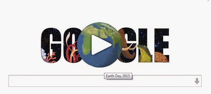 EARTH DAY 2015 DI GOOGLE HARI INI!