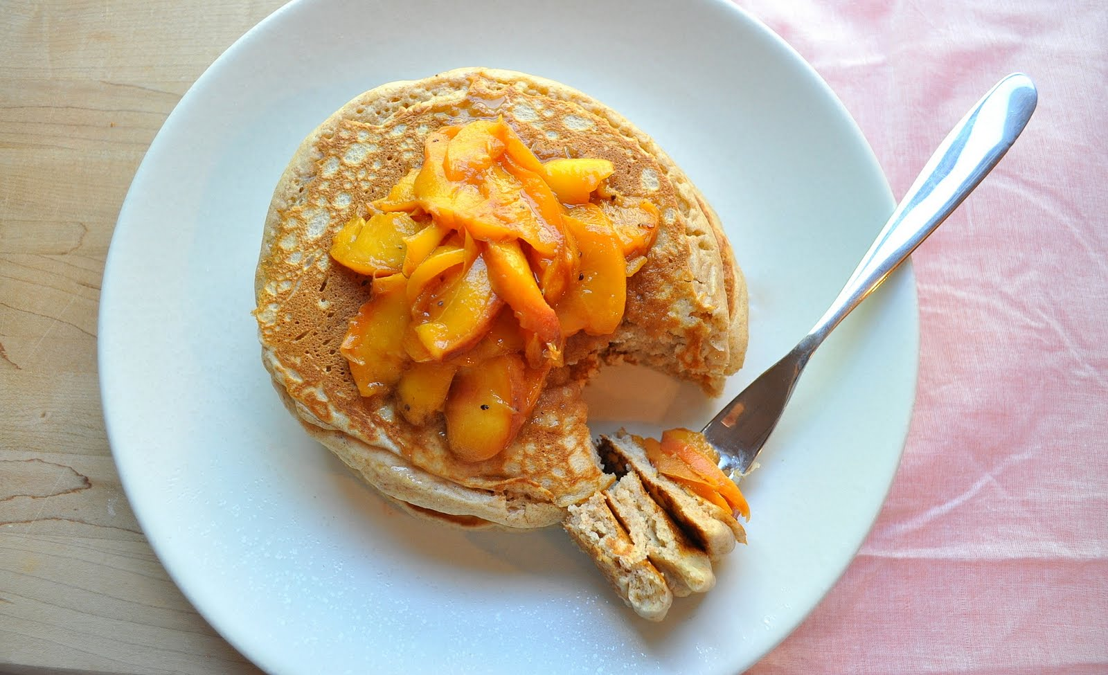 Whole Wheat Pancakes With Boozy Peaches Recipes — Dishmaps