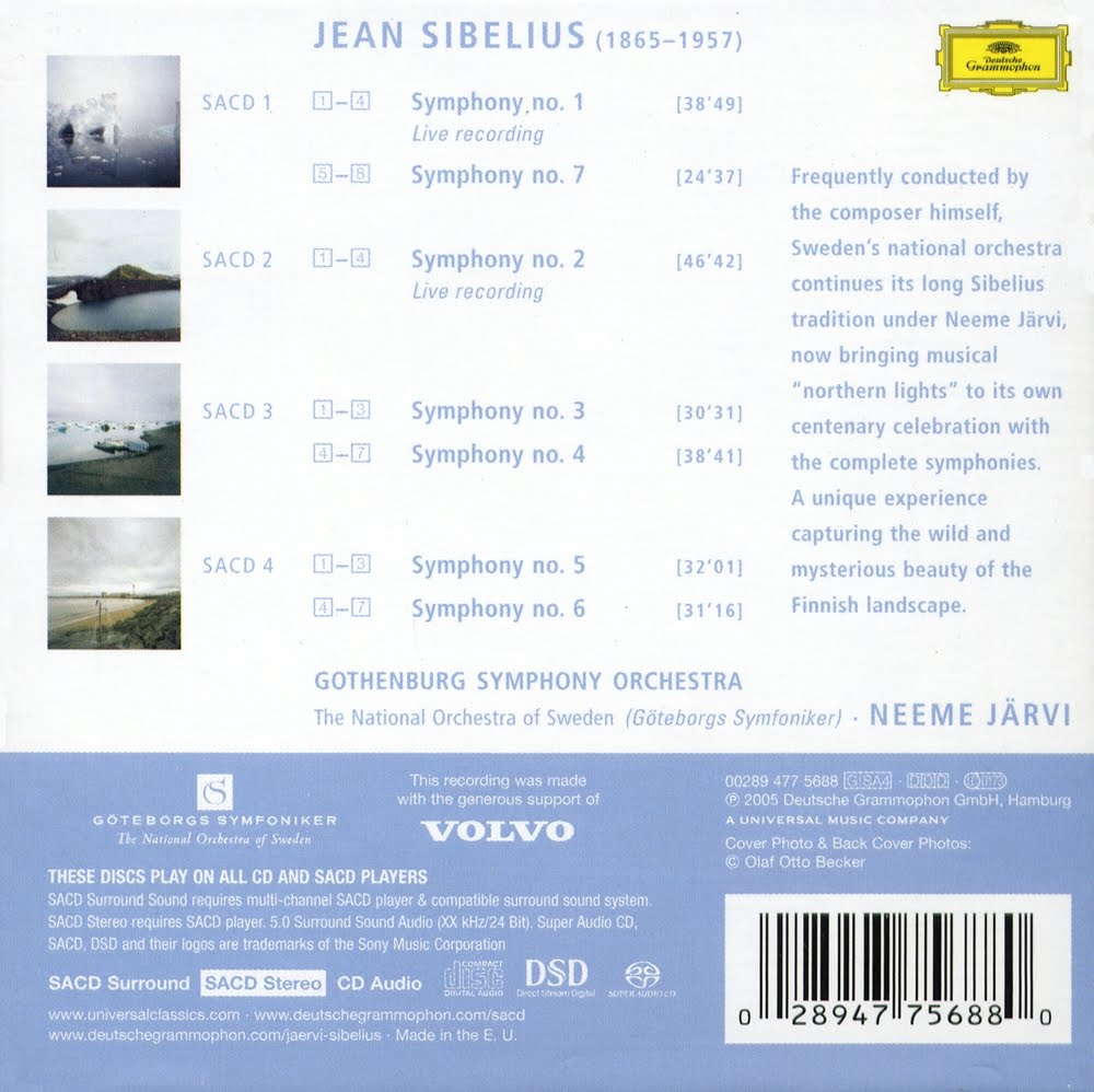Jean Sibelius - Neeme Järvi - Symphony No. 4 In A Minor - Canzonetta - The Oceanides