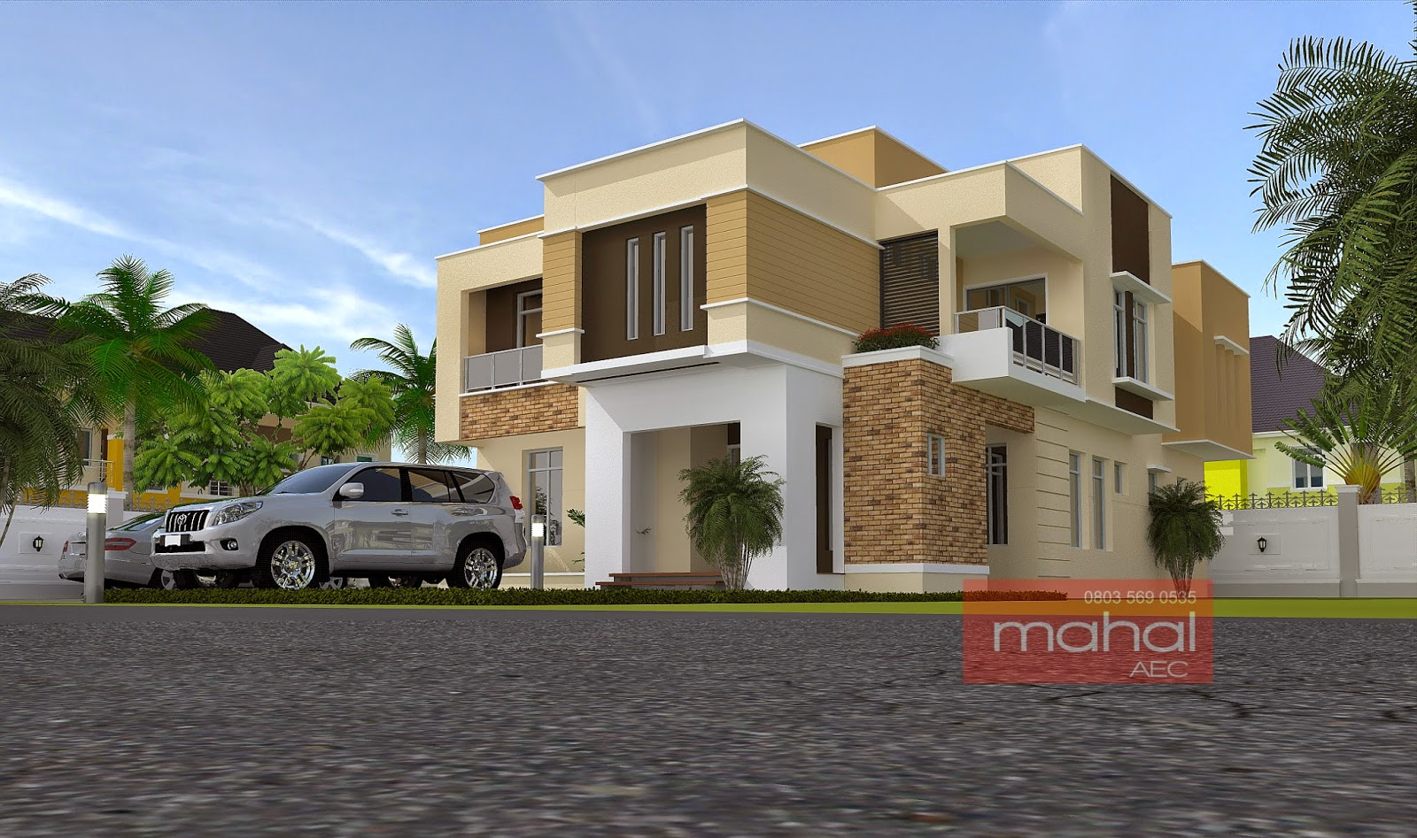 Contemporary nigerian residential architecture b ola house for Nigerian home designs photos