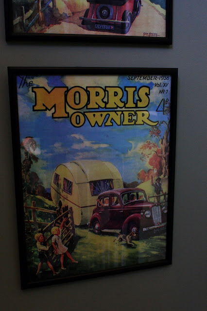 framed vintage copy of morris owner magazine