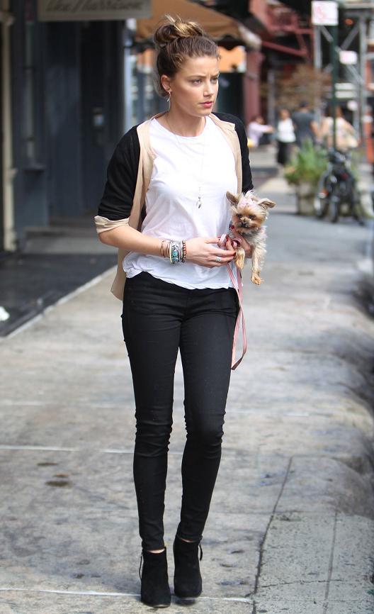 Amber Heard Street Style 2012