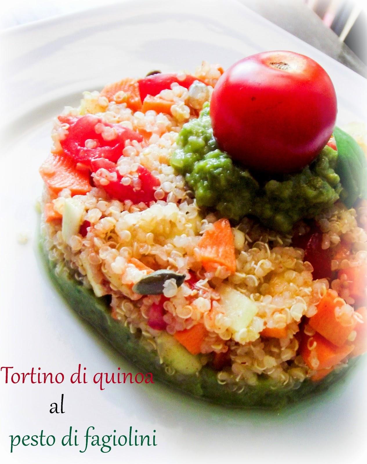 tortino di quinoa al pesto di fagiolini perchè io e voi valiamo!