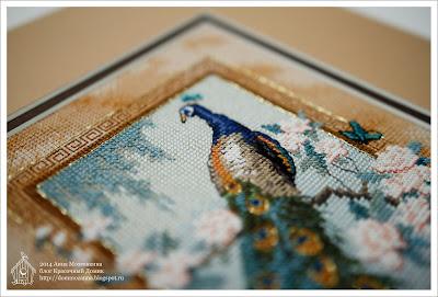 Dimensions вышивка птицы