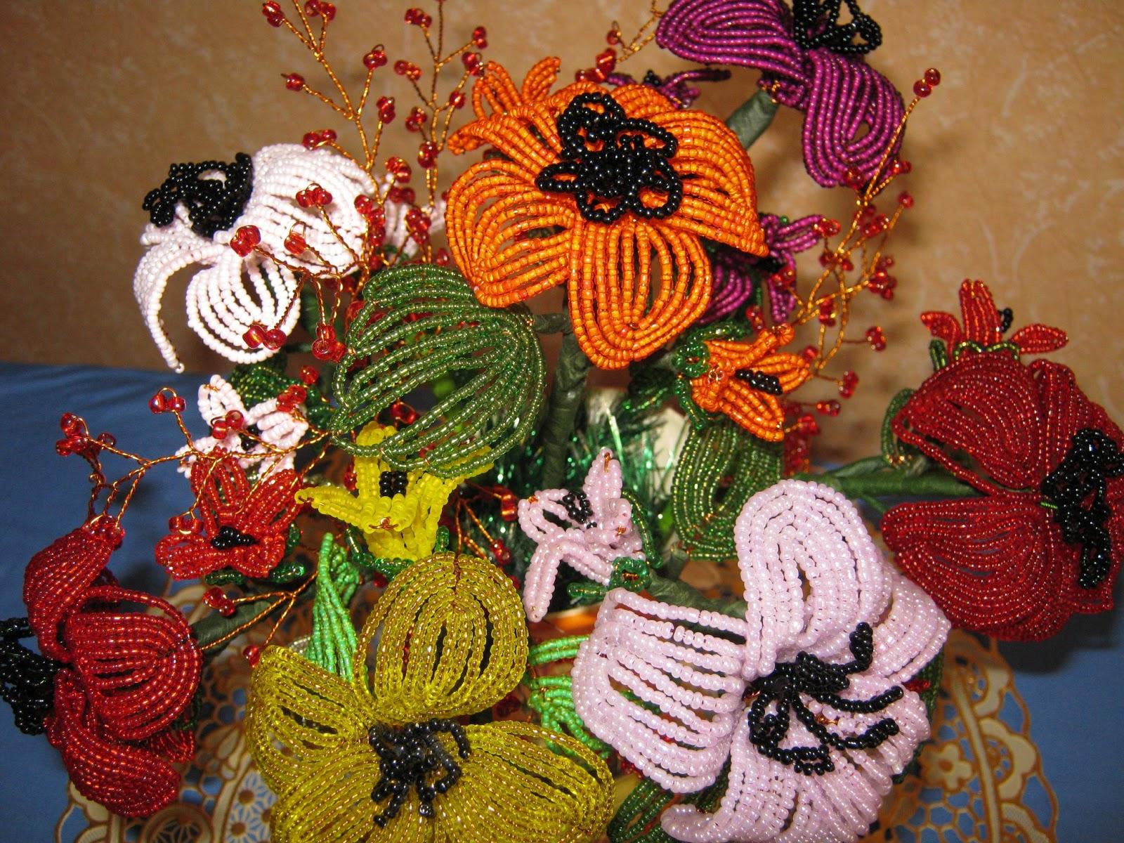 Цветы из бисера мастер классы, схемы и пошаговые фото и 92