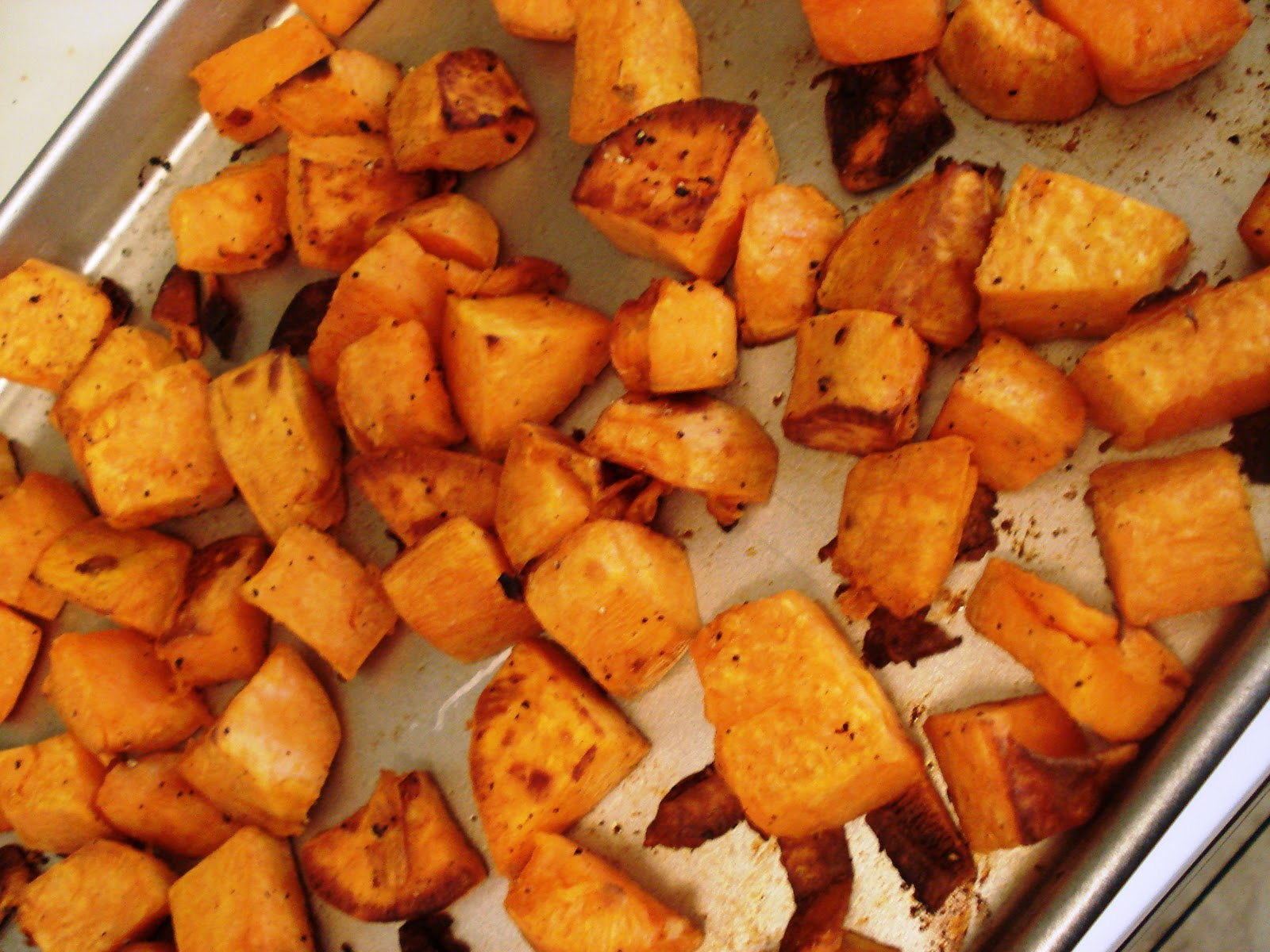 My Big Green Cookbook: Roasted Sweet Potatoes with Cranberry Chipotle ...