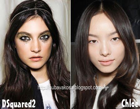 Черна коса Тенденции Пролет/Лято 2012