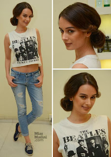 EVELYN SHARMA and Jacqueline at Jean-Claude Biguine