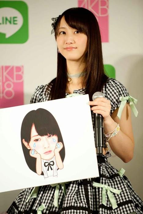 Las primeras 16 integrantes de la elección Senbatsu de AKB48 tendrán sus stickers en LINE 07
