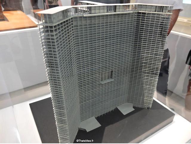 maquette gratte-ciel cartésien Le Corbusier, Expo le Corbusier Mesure de l'Homme Beaubourg centre George Pompidou architecture design urbanisme
